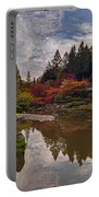 Soaring Autumn Colors In The Japanese Garden Portable Battery Charger
