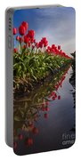 Soaring Crimson Tulips Portable Battery Charger
