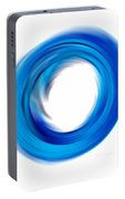Soft Blue Enso - Abstract Art By Sharon Cummings Portable Battery Charger
