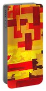 Soft Geometrics Abstract In Red And Yellow Impression I Portable Battery Charger