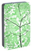 Soft Green Leaves Melody Portable Battery Charger