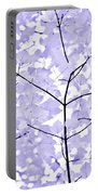 Soft Lavender Leaves Melody Portable Battery Charger