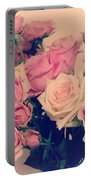 Soft Pastel Roses Portable Battery Charger