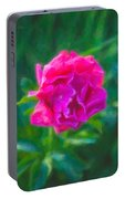 Soft Pink Peony Portable Battery Charger