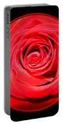 Soft Red Rose Closeup Portable Battery Charger