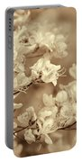 Soft Sepia Dancing Azalea Flowers Portable Battery Charger