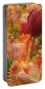 Soft Tulips Portable Battery Charger