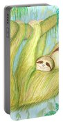 Soggy Mossy Sloth Portable Battery Charger