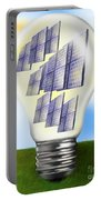 Solar Power Lightbulb Portable Battery Charger