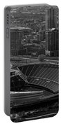 Soldier Field Chicago Sports 05 Black And White Portable Battery Charger