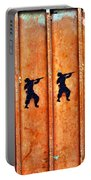 Soldier Graffiti Portable Battery Charger