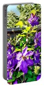 Solina Clematis On Fence Portable Battery Charger