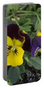 Solvang Pansies Portable Battery Charger