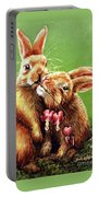Some Bunny Loves You Portable Battery Charger by Linda Simon