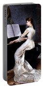 Song Without Words, Piano Player, 1880 Portable Battery Charger