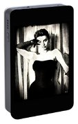 Sophia Loren - Black And White Portable Battery Charger
