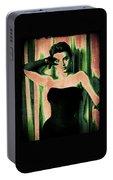 Sophia Loren - Green Pop Art Portable Battery Charger