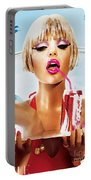 Sophie Monk Painting Portable Battery Charger