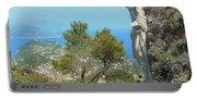 Sorrento Peninsula From Mt Solaro Capri  Portable Battery Charger