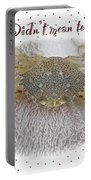 Sorry I Was Crabby Greeting Card - Calico Crab Portable Battery Charger