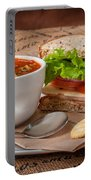 Soup And Sandwich Portable Battery Charger