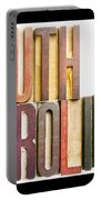 South Carolina Antique Letterpress Printing Blocks Portable Battery Charger