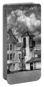 South Lookout Tower Aldeburgh Black And White Portable Battery Charger