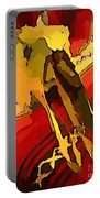South Western Style Art With A Canadian Moose Skull  Portable Battery Charger by John Malone