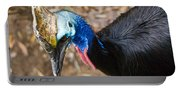 Southern Cassowary Portrait Portable Battery Charger