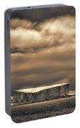 Southern Ocean In Black And White Portable Battery Charger