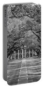 Southern Time Travel Bw Portable Battery Charger by Steve Harrington
