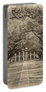Southern Time Travel Sepia Portable Battery Charger by Steve Harrington