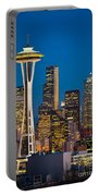 Space Needle Evening Portable Battery Charger