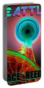 Space Needle Poster Work A Portable Battery Charger
