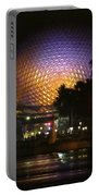 Spaceship Earth At Night Portable Battery Charger