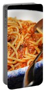 Spaghetti And Meat Sauce With Spoon Portable Battery Charger