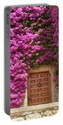 Spanish Door With Bougainvillea Portable Battery Charger