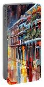Sparkling French Quarter Portable Battery Charger by Diane Millsap