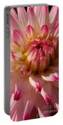Sparkling Pink Dahlia Portable Battery Charger