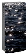 Sparkling Waters At Midnight Portable Battery Charger
