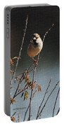 Sparrow On A Twig Portable Battery Charger