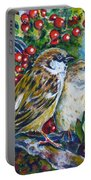 Sparrows On The Hawthorn Portable Battery Charger