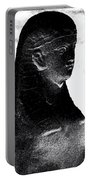 Sphinx Statue Torso Black And White Usa Portable Battery Charger
