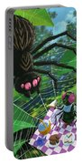 Spider Picnic Portable Battery Charger by Martin Davey