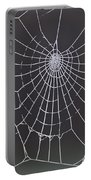 Spider Web With Frost Portable Battery Charger