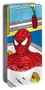 Spiderman  Portable Battery Charger by Mark Ashkenazi