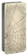 Spiderweb At Dawn Portable Battery Charger