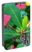 Spiky Pink Flowers Portable Battery Charger