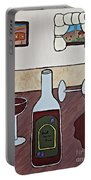 Essence Of Home - Spilt Glass Of Wine Portable Battery Charger