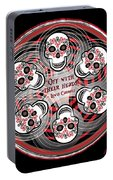Spinning Celtic Skulls Portable Battery Charger